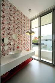 luxury bathroom design in beautiful minimalistic vacation home in