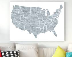 map of us states poster us map print etsy