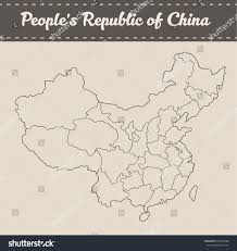 Pais Vasco Map Map Peoples Republic China Separable Borders Stock Vector