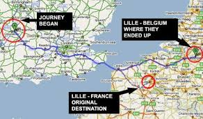 sat nav blunder takes coach full of christmas shoppers to lille