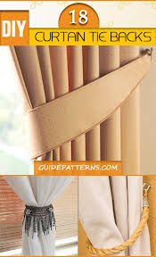 Diy Curtain Tiebacks 64 Diy Curtain Tie Backs Guide Patterns