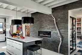 Interior Stone Tiles Charcoal Stacked Stone Veneer Rock Panels For Walls By Norstone