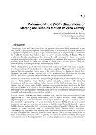 volume of fluid vof simulations of marangoni bubbles motion in
