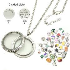 floating locket necklace chains images Floating locket w 50 charms twist style dotiow jpg
