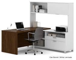 Office L Desk Linear Open Office Modular Furniture L Shaped Workstation W Hutch