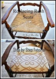 a stroll thru life replacing rush seats upholstery tutorial