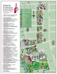 Art Institute Of Chicago Map by Campus Map North Central College