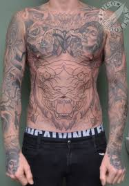tiger stomach tattoos stomach tattoos