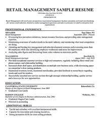 Enterprise Manager Resume Resume Assistant Manager Store Deli Manager Resume Store Sample