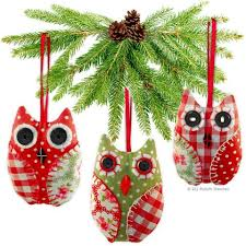 2 x printed sewing patterns handmade decorations owl