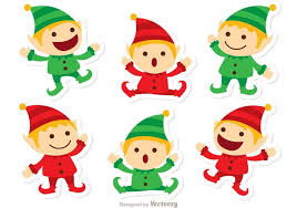 santas elves christmas vector pack download free vector art