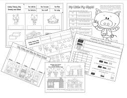 pigs printables fairytales