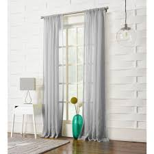 Sheer Gray Curtains by Rod Pocket Fabric Curtains U0026 Drapes Window Treatments The