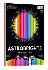 Color Spectrum Astrobrights 25 Color Spectrum Pack 24 Lb 8 1 2 X 11 In Pack