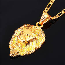 gold animal pendant necklace images Lion men necklace onyx bunny jpg