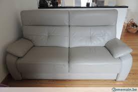 canapé cuir gris clair salon cuir gris clair un deux places relax et un 3 places a