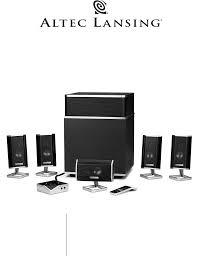 altec home theater altec lansing stereo system fx5051 user guide manualsonline com