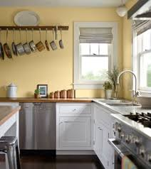 Yellow And White Kitchen Cabinets Yellow Kitchen Paint Colors With White Cabinets