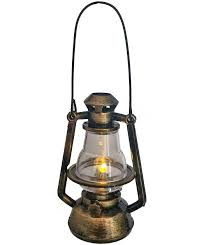 western ornament mini cowboy lantern copper lights up