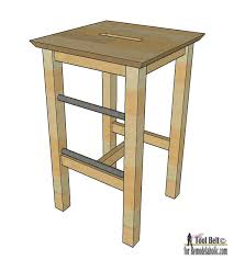 Woodworking Stool Plans For Free by Remodelaholic Diy Bar Stools With Metal Bar Accents