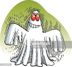 hand drawn ghost sketch vector art getty images