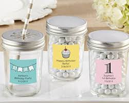 jar party favors personalized glass jar birthday party favors by kate aspen