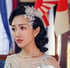 blumen haarschmuck hochzeit klar kristall spitze baumeln stirnband tiara brautfestzug prom