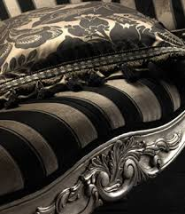 Black And Gold Curtain Fabric Chatsworth Floral Striped Damask Upholstery Fabric Damask