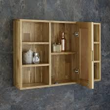 Bathroom Mirror Unit Marvelous Solid Oak Wall Mounted Bathroom Mirror Cabinet And