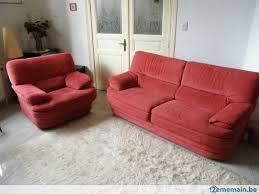 fauteuil canapé salon divan lit alcantara canapé 3 places 1 fauteuil tbe a