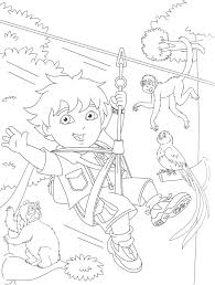 awesome diego coloring pages free printable cartoon coloring