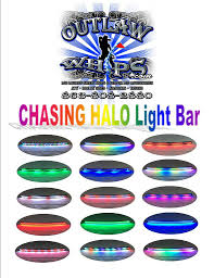 Led Light Bar Color Changing by Featured Item Halo Color Changing Led Light Bar U2013 Outlawwhips Com