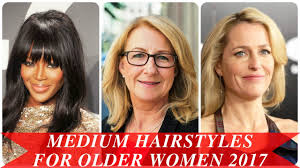 mid length hair styles for the older woman medium hairstyles for older women 2017 youtube