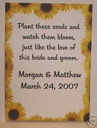 sunflower seed wedding favors sunflower wedding favor ideas sheriffjimonline