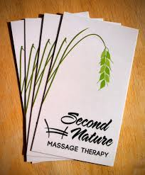 Merrill Business Cards Second Nature Massage Therapy For Equine Enthusiasts Logo
