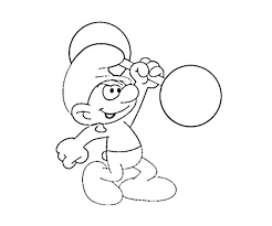 smurf coloring coloring