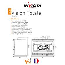 invicta fireplaces turbo total vision 800 80 cm
