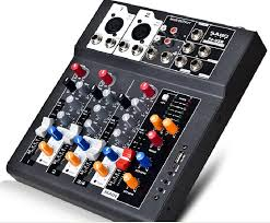 Best Small Mixing Desk F4 Usb Mini Audio Mixer Console With Usb Built In Effect Processor