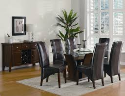 Glass Dining Sets 4 Chairs Black And Brown Dining Room New Decoration Ideas
