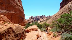 Moab Utah Map by Hiking Arches National Park Loop Trail Primitive Trail Devils