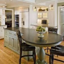 kitchen island with table traditional kitchen with large island table kitchen