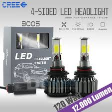 lexus yellow fog light capsule 120 watts 12000lm cree led fog lights kit lamp bulbs 6000k white