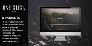 one click parallax one page html template website themes