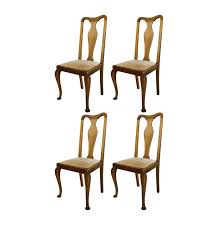 Pictures Of Queen Anne Chairs by Set Of Four Vintage Queen Anne Style Side Chairs Ebth