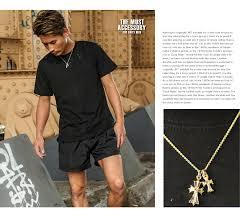 man gold cross necklace images Gab george rakuten ichiba shop mens cross necklaces tiny amp jpg