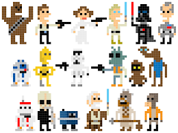 star wars pixel art collection andy rash minecraft pixel