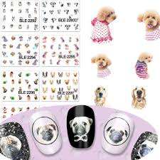 online shop 1x cute cat dog design water transfer stickers nail