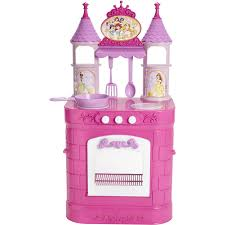 Pink Retro Kitchen Collection Disney Princess Magical Play Kitchen Walmart Com