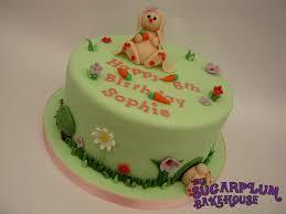 cute bunny birthday cake cakecentral com