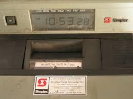 simplex time recorder time clock s n b00084 model 1403 9110